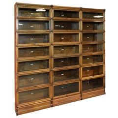 Big 19th Century Oak Globe Wernicke Bookcase