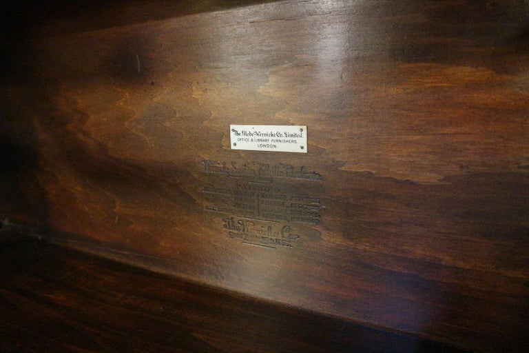Early 20th Century Big antique mahogany Globe Wernicke bookcase For Sale