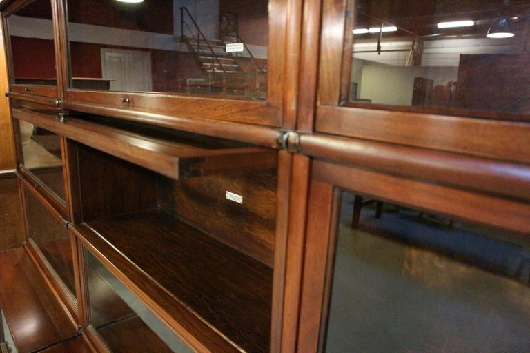Big antique mahogany Globe Wernicke bookcase For Sale 1