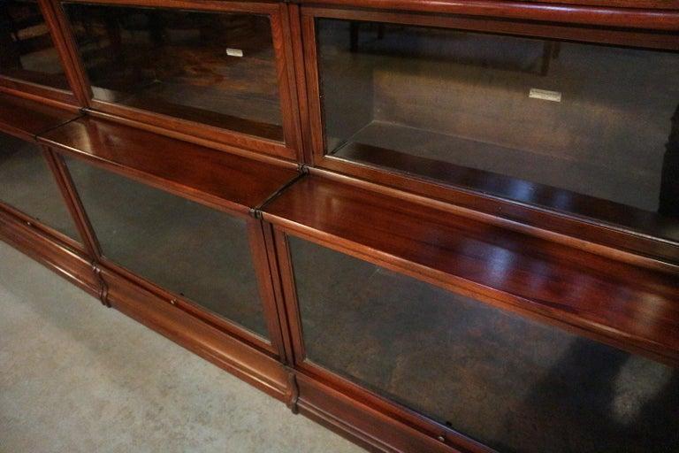 Big antique mahogany Globe Wernicke bookcase For Sale 2