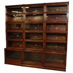 Big antique mahogany Globe Wernicke bookcase
