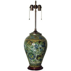 Big Antique Middle Eastern Islamic Pottery Lamp