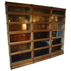 Big Antique Oak Globe Wernicke Bookcase