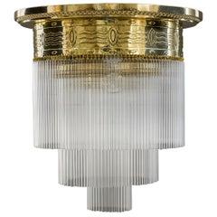 Big Art Deco Ceiling Lamp Vienna, circa 1920s