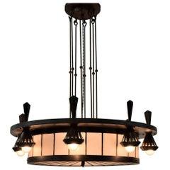 Big Art Deco Chandelier by Winkelman and van der Bijl Amsterdam