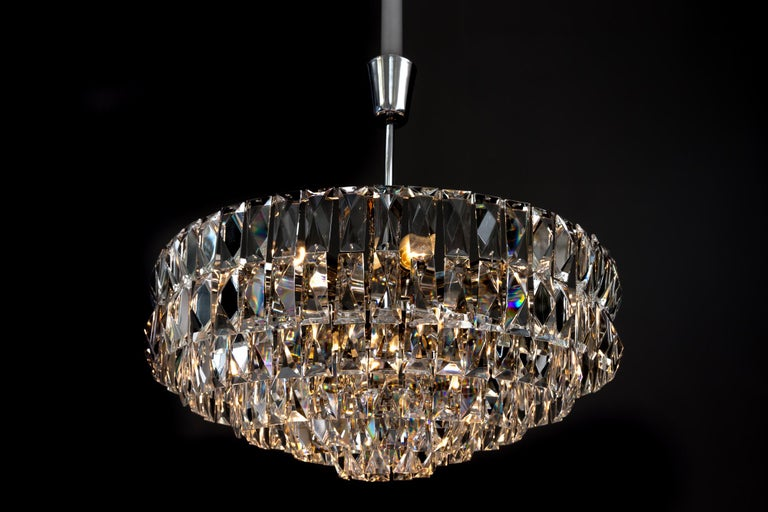 Big Bakalowits Crystal Chandelier, circa 1960s For Sale 4