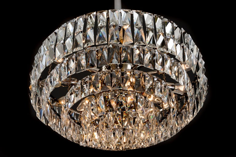 Big Bakalowits Crystal Chandelier, circa 1960s For Sale 6