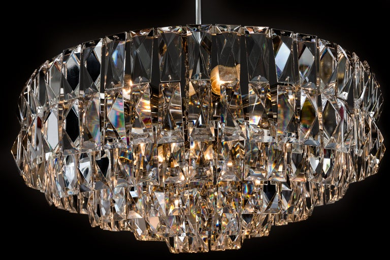 Big Bakalowits Crystal Chandelier, circa 1960s For Sale 10