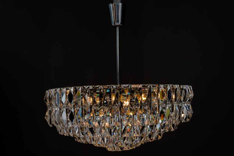 Mid-20th Century Big Bakalowits Crystal Chandelier, circa 1960s For Sale