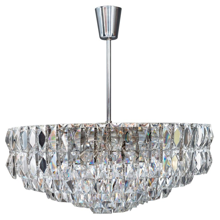 Big Bakalowits Crystal Chandelier, circa 1960s For Sale