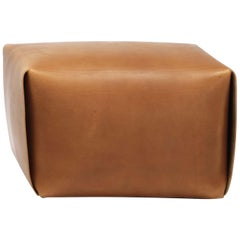 Big Bao Natural Leather Ottoman by Manifestodesign