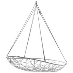 Big Basket Hanging Chair Twig Modern Steel In/Outdoor White 21st Century Daybed