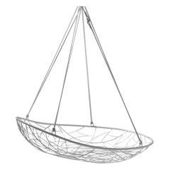 Big Basket Hanging Chair Twig Modern Steel In/Outdoor Black 21st Century Daybed