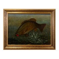 """Big Bass"" Original Oil Painting by Richard La Barre Goodwin"