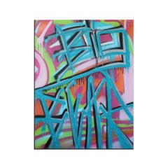 'Untitled XVII' Wrapped Canvas Original Street Art Painting by Big Bear