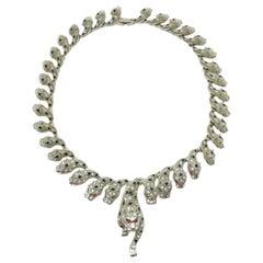 Big Cat Vintage Leopard Necklace 1990s