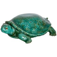Big Ceramic Turtle, Italy, 1950s