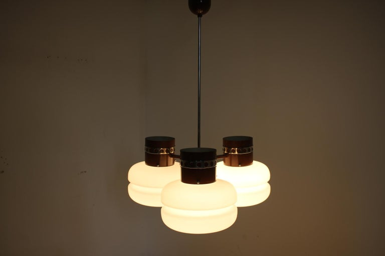Metal Big Chandelier by Napako, 1970s For Sale
