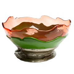 Big Collina Medium Resin Basket Extra in Ruby, Green and Bronze by Gaetano Pesce