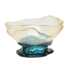 Big Collina Medium Resin Basket in Clear and Emerald Green by Gaetano Pesce