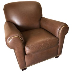 Big Comfy Supple Leather Club Chair
