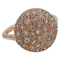 """Big Cookie"" Pavé Diamond Slab Ring in Rose Gold"