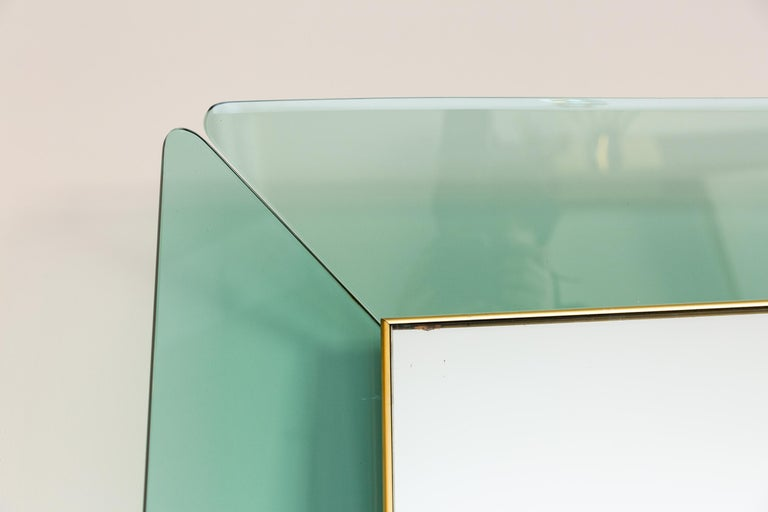 Mid-20th Century Big Cristal Art Mirror, Italy, circa 1960 For Sale