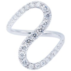 Big Curve Diamond Fashion Ring