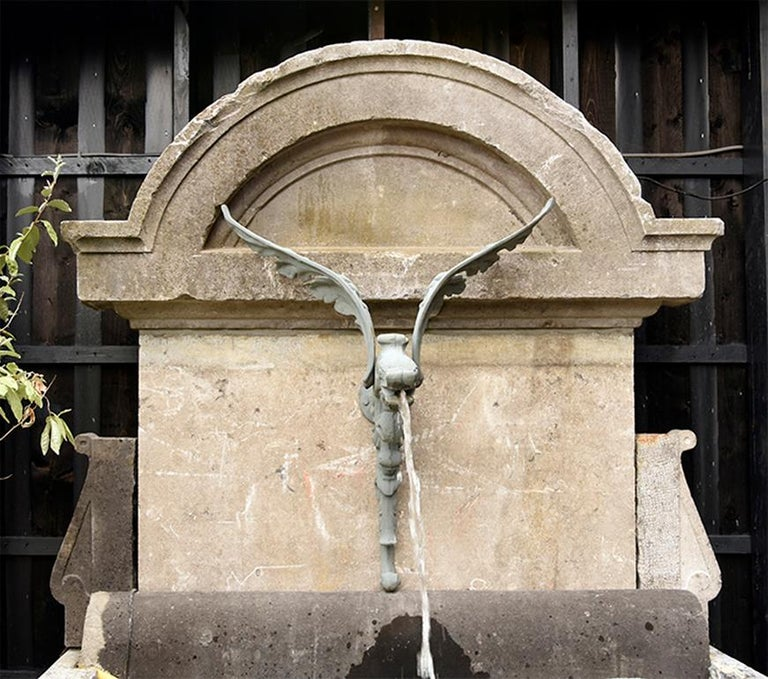 This fountain we composited ourselves and is made out of Belgian bluestone pieces.