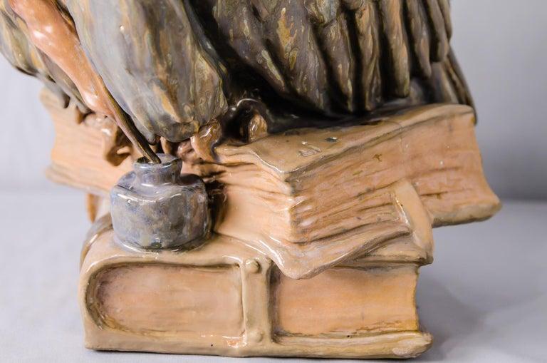Big Ceramic Golscheider Owl Lamp  4