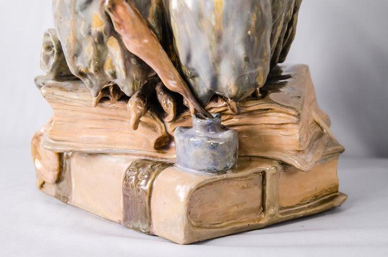 Big Ceramic Golscheider Owl Lamp  5