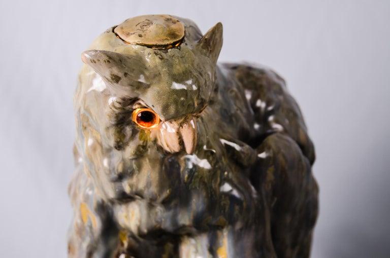 Big Ceramic Golscheider Owl Lamp  6