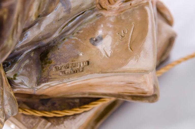 Big Ceramic Golscheider Owl Lamp  1