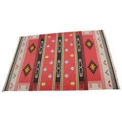 Big Indian Kilim Carpet or Rug
