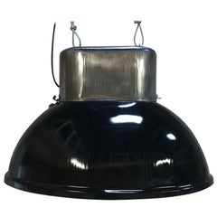 Big Industrial Vintage European Original Steel Pendant Lamp