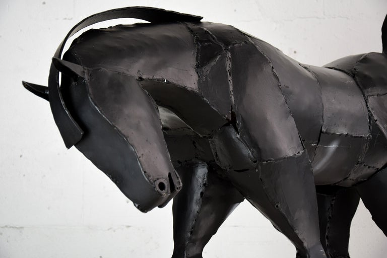Late 20th Century Big Iron Horse Sculpture by Lida Boonstra, 1998 For Sale