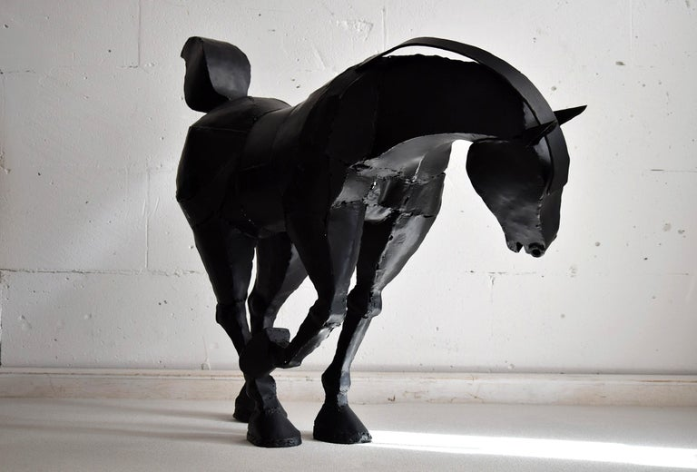 Big Iron Horse Sculpture by Lida Boonstra, 1998 For Sale 1