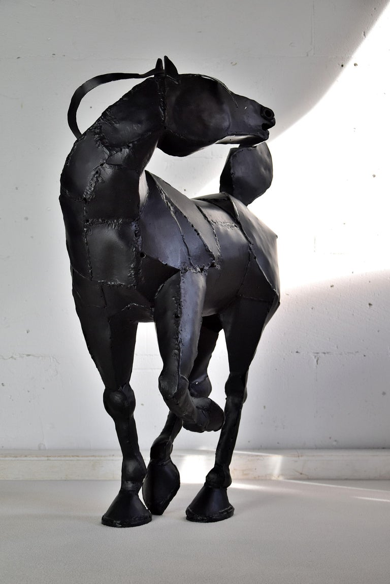 Big Iron Welded 1998 Horse Sculpture For Sale 2