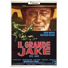 Big Jake 1971 Italian Due Fogli Film Poster