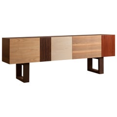 Big John, Contemporary Sideboard Made with Wood Patchwork