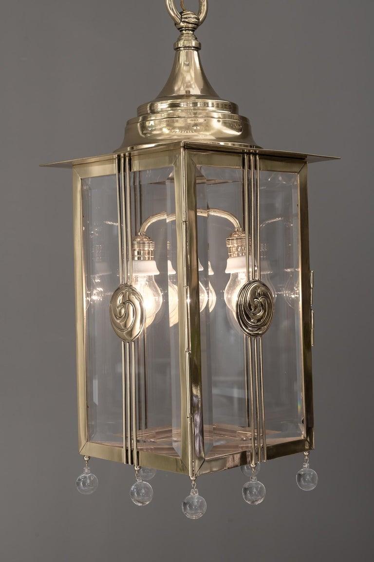 Big Jugendstil Pendant with Cut Glasses, circa 1910s For Sale 12