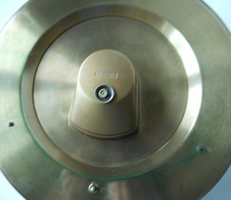 German Big Kienzle Weltzeituhr Modernist Table World Timer Zone Clock, 1960s For Sale