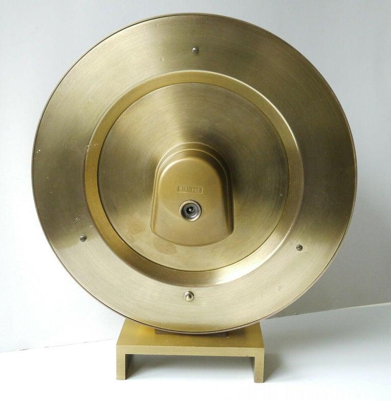 Brass Big Kienzle Weltzeituhr Modernist Table World Timer Zone Clock, 1960s For Sale