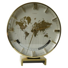 Big Kienzle Weltzeituhr Modernist Table World Timer Zone Clock, 1960s