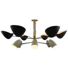 Big Lamp Chandelier 12 Lights Bespoke Brass Italian Design by Diego Mardegan