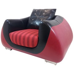 Big Leather Armchair, 1960s