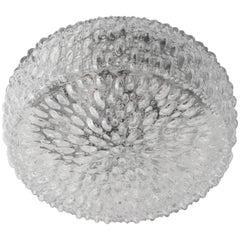 Big Limburg Glass, 1960s Flush Ceiling Light