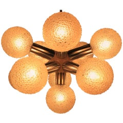 Big Midcentury Sputnik Chandelier, Robert Hausmann, Space Age, Atomic, 1970s