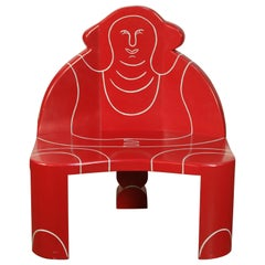 """""""Big Momma"""" Postmodern Lounge Chair by Alan Siegel, Signed and Dated 1983"""
