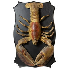 Big Ol' Lobster 'Vintage Hundred Year Old Lobster on Wood Plaque'